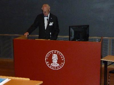 Welcome by the president of Academia Europaea Lars Walløe
