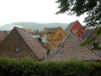 View of Bergen houses